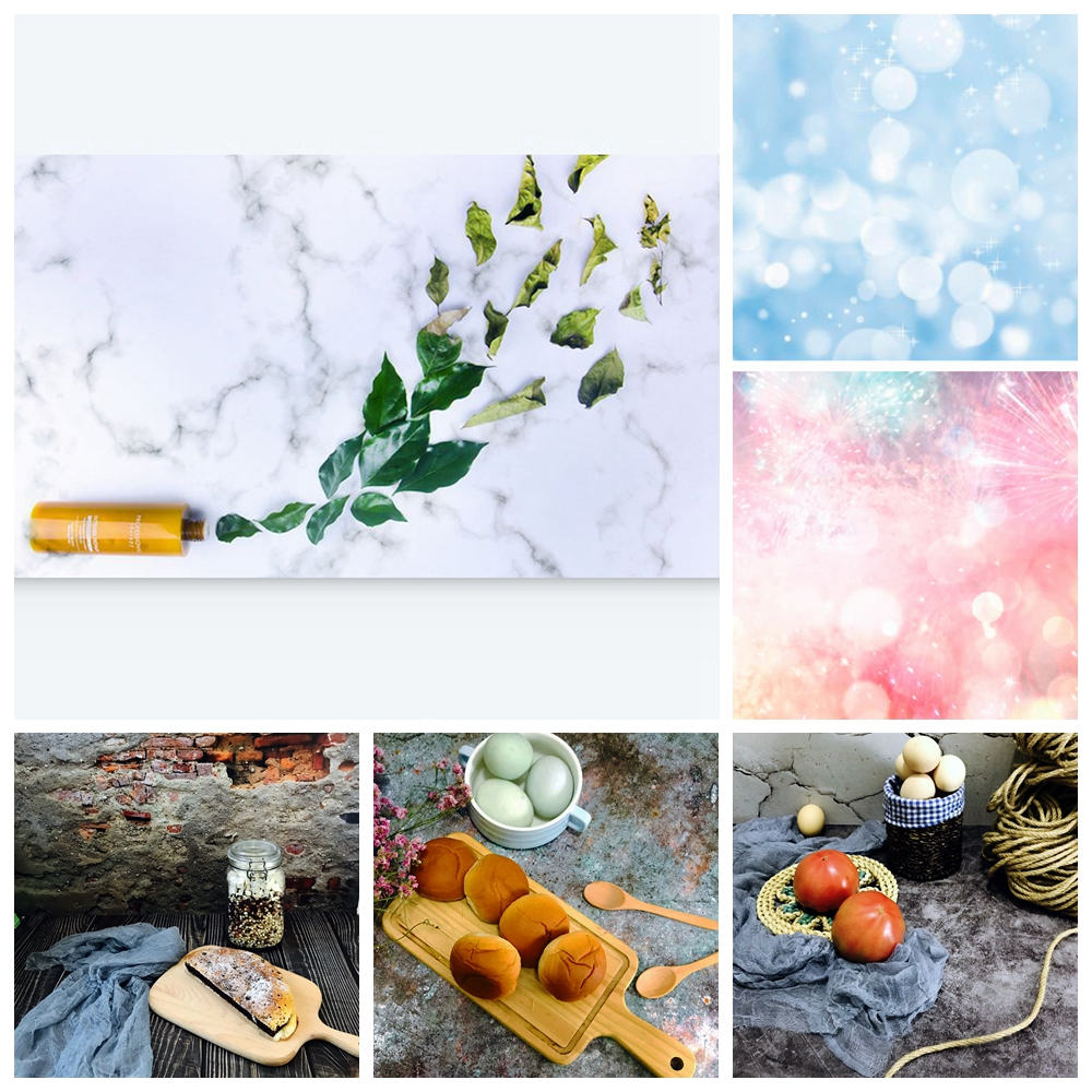 Waterproof 57X87cm Background Paper Wood Grain Cement Marble Texture Photography Backdrop Paper Studio Props for Camera Photo