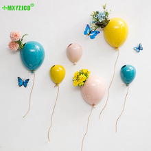 Get more info on the Wall-mounted Ceramic Balloon Flower Pot Kindergarten Background Wall Pendant Home Flower Arrangement Container