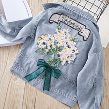 Floral Appliques Fashion Denim Jackets for Girls 2020 New Sp