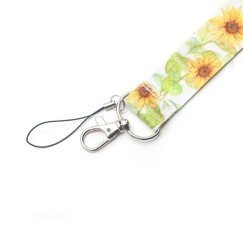 CA114 Girasole Cordino Al Collo Della Cinghia per ID key Card Del Cellulare Cinghie Badge Holder FAI DA TE Corda Appesa Archetto Da Collo Accessori