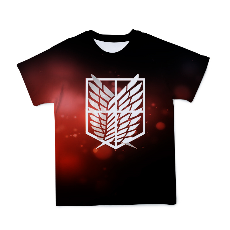 2021 Summer Men's 3D New Japanese Anime T-shirt Clothing Attack Giant Characters Loose O-neck Short Sleeve Large Size 110-6 XL