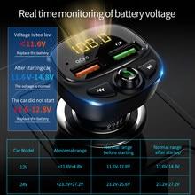 Fm-Zender Bluetooth Dual Usb Mobiele Auto Telefoon Oplader Snel Opladen MP3 Tf Card Muziek Auto Kit QC3.0 Snelle autolader