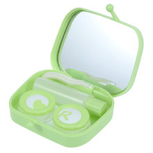 1PC Contact Lense Box Lightweight Plastic Reusable Lense Box for Girls Ladies(China)
