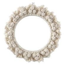 Rattan Mirror Innovative Art Decoration Round Dressing Bathroom Or Manual Weaving Cotton Rope Wicker Wall Hanging