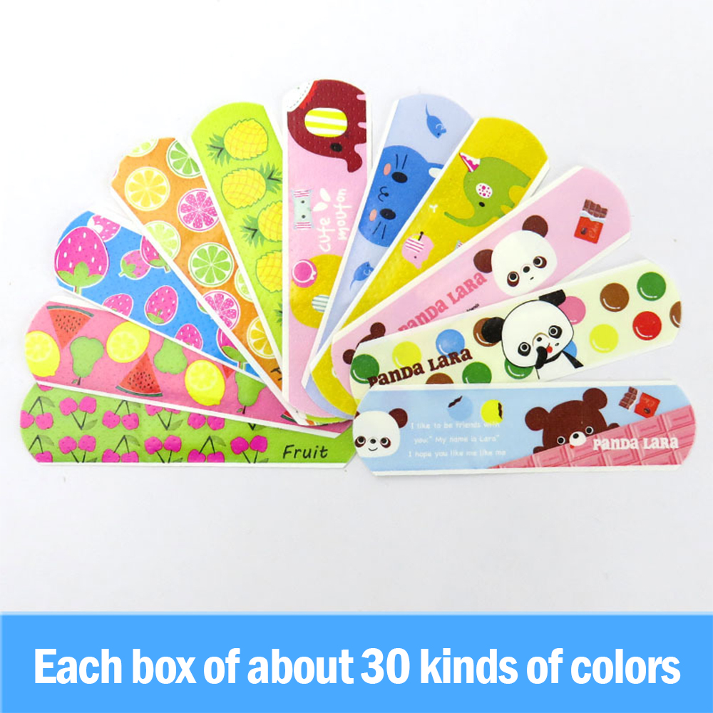 Adhesive bandages for children, waterproof breathable cartoon adhesive bandages, children first aid kit, 100 pieces