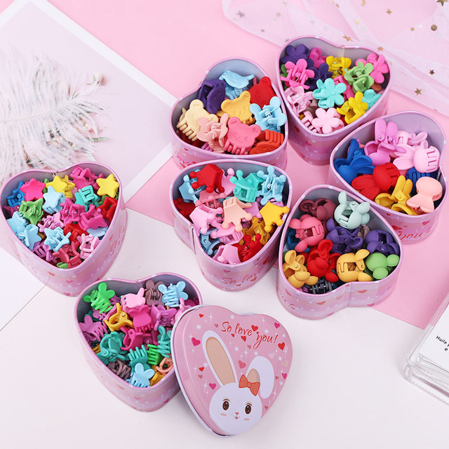 Girl's Candy Colors Mini Hair Claws 15 Pcs Set 1