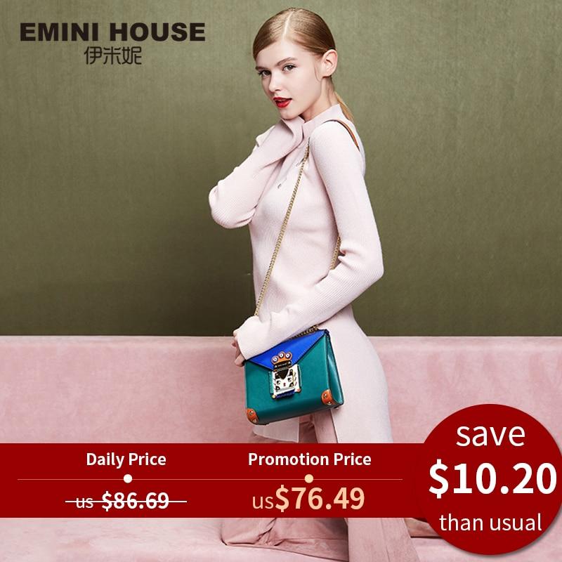 Messenger Bags Crossbody-Bags Emini-House Indian Women Original-Design Split for Chic-Chain