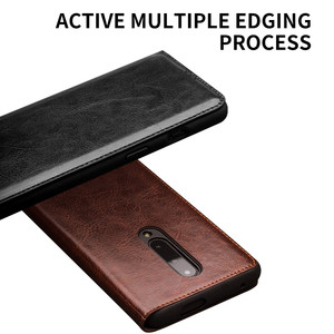 Image 4 - QIALINO Luxurious Genuine Leather Phone Case for OnePlus 7 6.41 inch Business Style Handmade Cover for OnePlus 7 Pro 6.67 inch