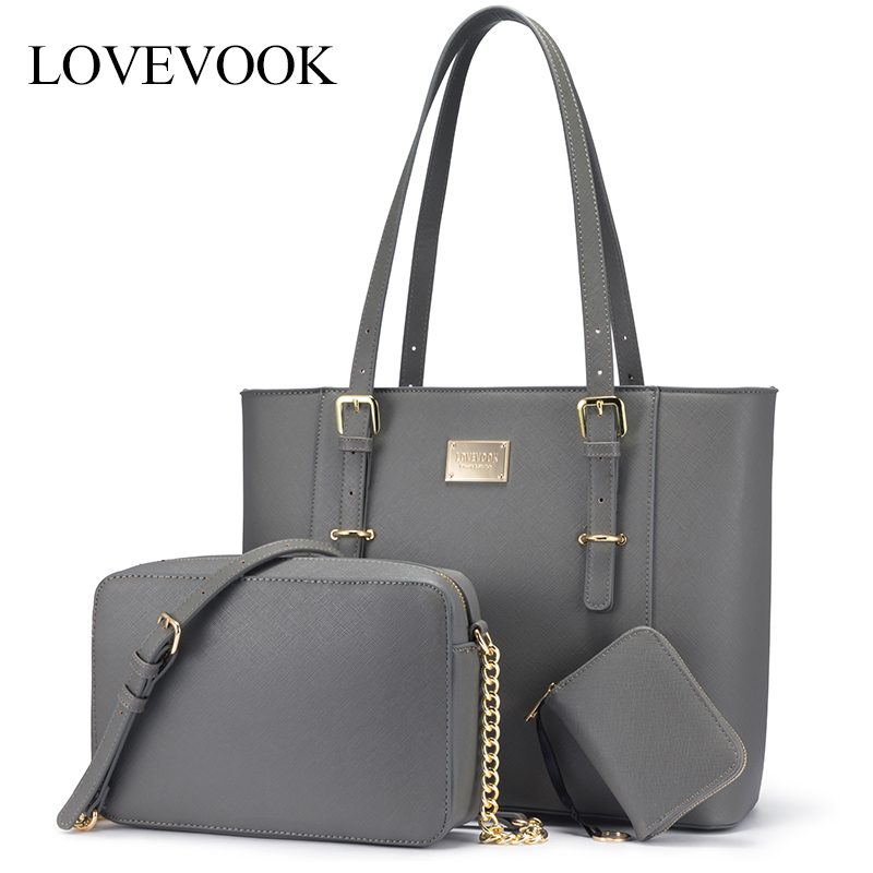 LOVEVOOK Women Handbag Large Laptop Bags Set For Office Ladies 2019 Shoulder Bags Female Crossbody Bags Famale Purse And Clutch