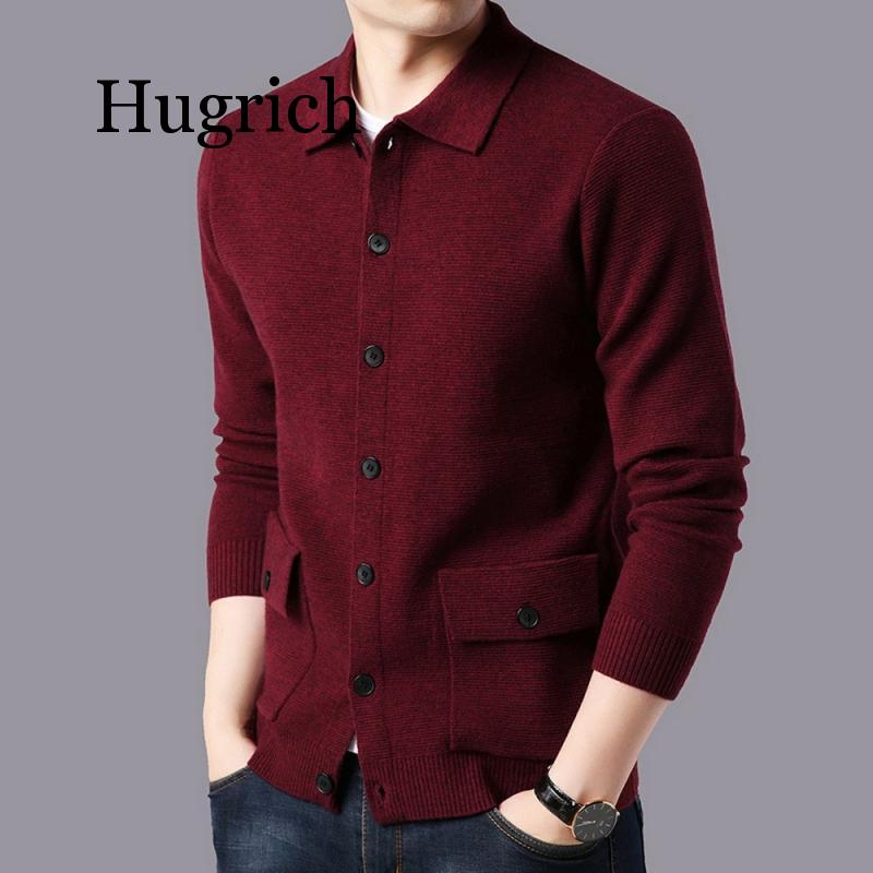 2020 Brand Sweater Men Streetwear Fashion Sweater Coat Men Autumn Winter Warm Cashmere Woolen Cardigan Men With Pocket