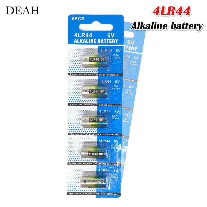 5 baterias alcalinas dos pces 6v 4lr44 para o choque do treinamento do cão colares beleza caneta a544v 4034px px28a l1325 4ag13 544 4a76 baterias secas