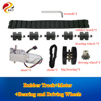 T007 Rubber Track Metal Stainless Steel Load bearing Wheel Drive Wheel Chain Robot Tank Chassis Kit Large Load