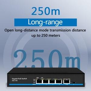 Image 2 - 4 יציאת PoE Gigabit Ethernet מתג 1 יציאת Gigabit אינטרנט מתג POE מתג 5x10/100/1000 mbps RJ45 יציאת PoE 48v