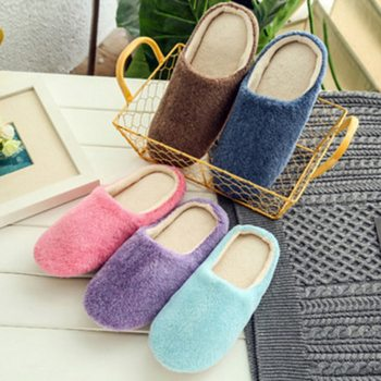 Non-slip Floor Home Slippers Women 2020 Indoor House plush Soft Cute Cotton Slippers Shoes Slides For Bedroom 2016 home slippers women indoor floor flax slippers men breathable linen slipper home bedroom slippers women shoes awm116