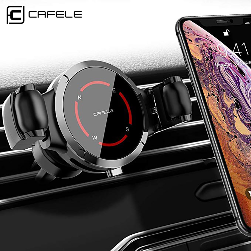 CAFELE Car Phone Holder In Car Clip Air Vent Mount Car Holder For Mobile Phone Stand For IPhone 11 Pro Max 8 7 6 6s Plus
