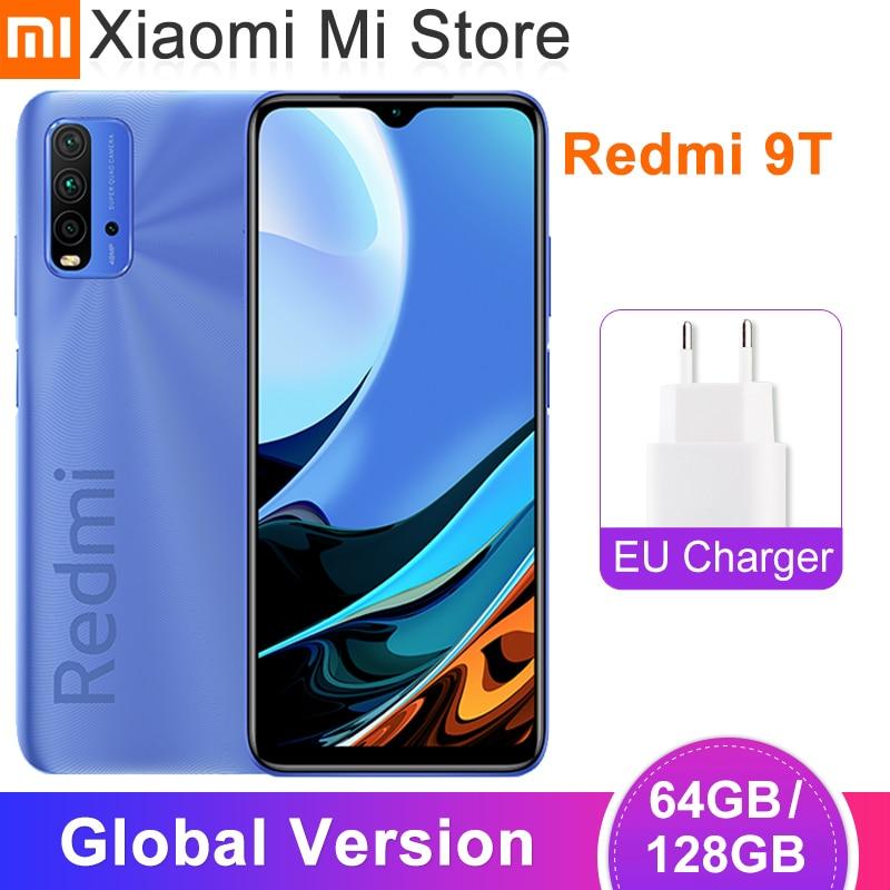 Глобальная версия Xiaomi Redmi 9 т мобильный телефон 4GB оперативной памяти, 64 Гб встроенной памяти/128 ГБ ROM Snapdragon 662 6,53