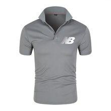2021 New summer threading Men's short-sleeved polo casual short-sleeved men +T-shirt men's brand printing polo shirt Men