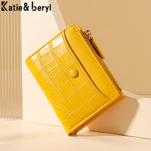 Splice PU Leather Short Women Wallet Many Department Ladies Small Clutch Money Coin Card Holders Purse Female Wallets Cartera
