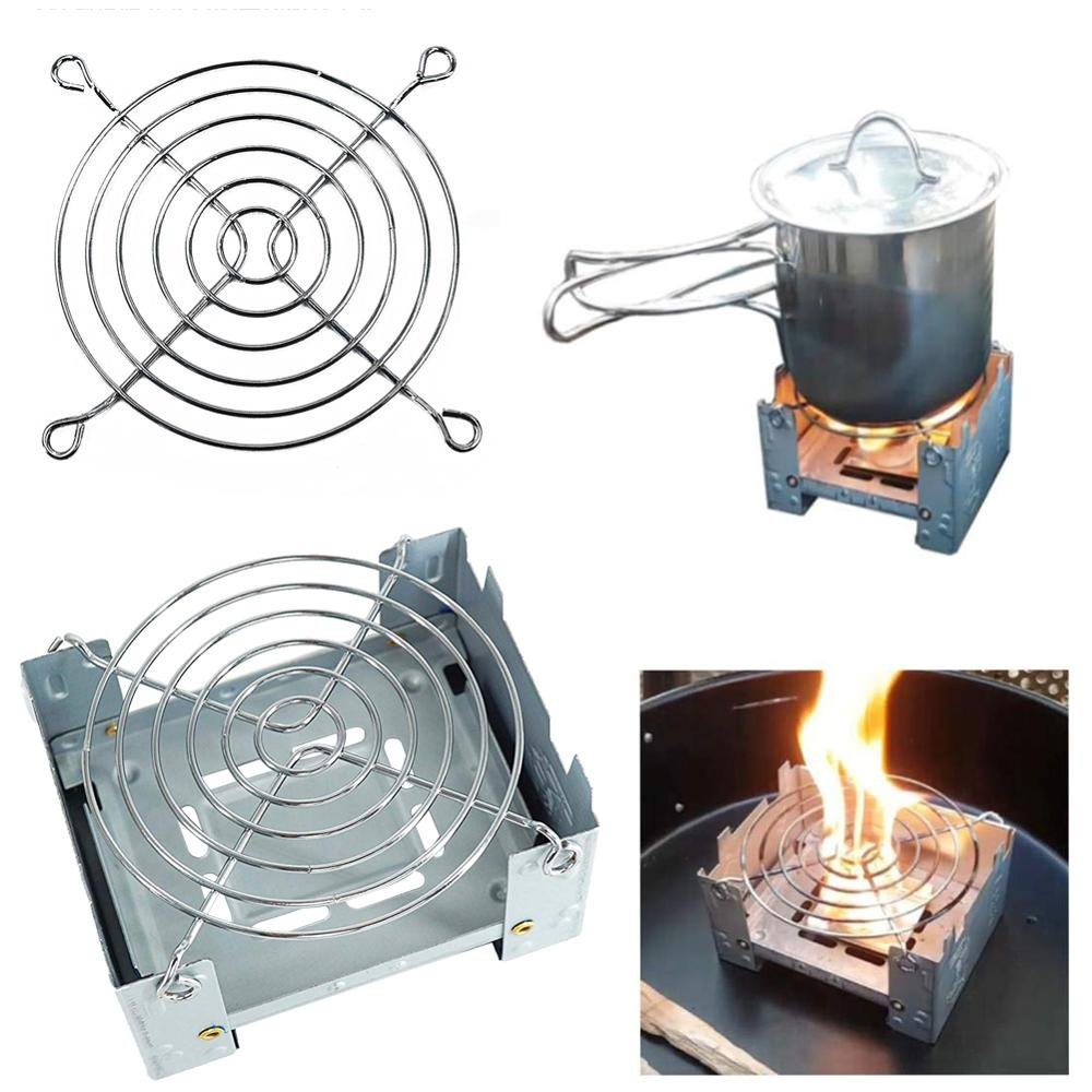 Outdoor Alcohol Stove Camping Mini Foldable Wax Furnace with Stainless Steel Disc Wire Bracket Portable Camping Alcohol Burner