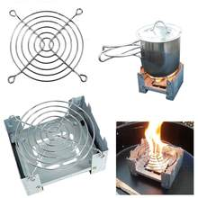 Outdoor Alcohol Stove Camping Mini Foldable Wax Furnace with Stainless Steel Disc Wire Bracket Portable Camping Alcohol Burner(China)