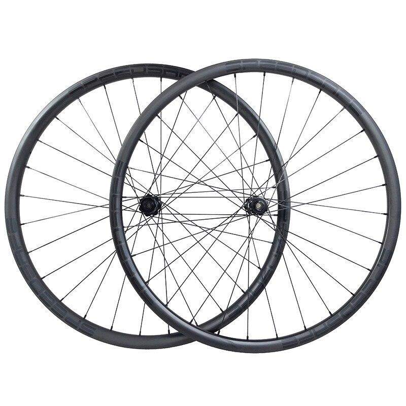 1320g 29er MTB light XC 30mm x 22mm asymmetric hookless straight pull bike wheelset 350 boost