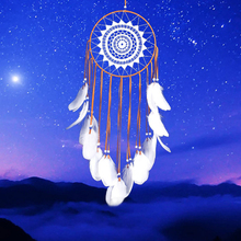 Goose Feathers Dream Catcher Wind Chimes Pendant Lace Craft Ornament MS6008 Car Wedding Decoration Auto