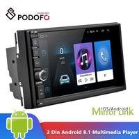 Podofo 2 Din Android 8.1 Car Multimedia Player 7'' Touch Screen 2din GPS Mirror Link WIFI Car Radio Audio Bluetooth Autoradio