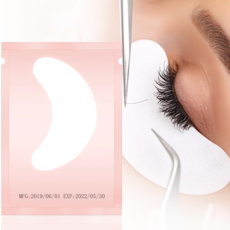 Pares de Cílios 50 Pad Remendo Gel Enxertia Cílios Under Eye Patches Para A Extensão Dos Cílios de Papel Adesivo Envolve Ferramentas de Maquiagem