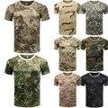 Мужская повседневная камуфляжная футболка, камуфляжные армейские военные топы для охоты, рыбалки