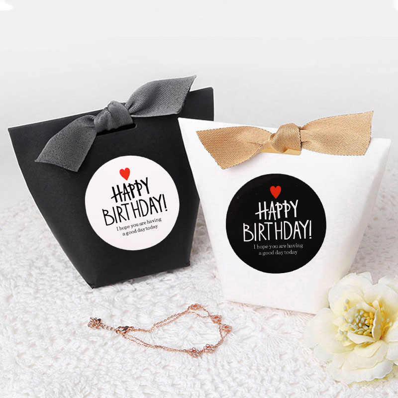 10 أوراق شكرا لك ملصقات سعيد هدية عيد ميلاد تسميات حفلة عيد ميلاد Favors شنطة هدايا ملصق مهرجان لوازم الزفاف لصالح