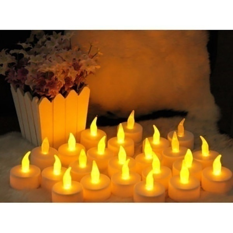 Image 2 - 12/24/48pcs  Flameless LED Tealight Tea Candles Wedding Light Romantic Candles Lights for Party Wedding Decorations-in Holiday Lighting from Lights & Lighting on