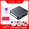 TOPTON Мини ПК Windows 10 Intel i7 10510U i5 10210U i3 8145U 2 * DDR4 M.2 Nuc компьютер Портативный ПК Тип-C 4K 60Hz HDMI2.0 DP