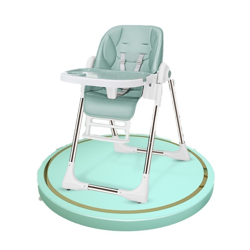 Luxury Quality Safety Protection Eating Feeding Child Kid Chair Multifunctional Adjustable Plastic With Table Wheel Baby Seat