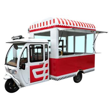 Darmowy projekt Street Sevice Hot Dog Cart mobilny elektryczny lody samochód Moto pojazd do serwowania żywności tanie i dobre opinie GISAEV CN (pochodzenie) TRAILER Food Truck 600kg 1 6m AB-HT10 2000kg 2 3m 3 8m stainless steel Moto Food Truck Food Tricycle