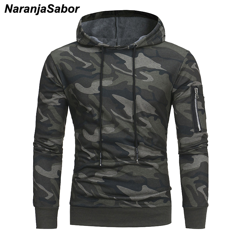 NaranjaSabor Camouflage Hoodie Men 2020 Autumn Military Mens Pullover Hooded Sweatshirt Male Fashion Casual Brand Clothing N629