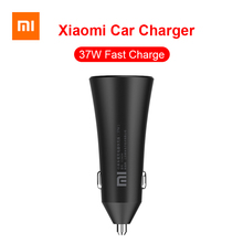 Original Xiaomi Car Charger 37W Fast Charging Double USB Cigarette Lighter Adapter with LED Light for iPhone Samsung Huawei