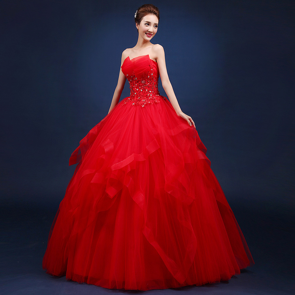 Image 5 - Quinceanera Dresses 2019 The Party Prom Elegant Strapless Ball Gown 5 Colors Formal Homecoming Quinceanera Dress Custom Size F-in Quinceanera Dresses from Weddings & Events