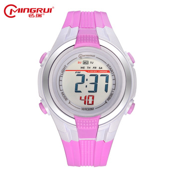 Waterproof Silicone Children Watches Led Display MINGRUI Brand Kids Watch Chronograph Auto Date Alarm Kid Clock relogio digita