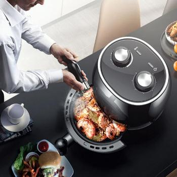 Electric Fryer Multifunction Full Automatic Smart Air Fryer Frying Machine Household Kitchen Appliances Food Fries AU Plug 220V air frying pan new special price large capacity intelligent oil smoke free fries machine automatic electric frying pan 220v 3l