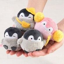 Keychain Penguin Plush Toy-Doll Girls School-Bags Pendant Couples Positive-Energy 4kinds