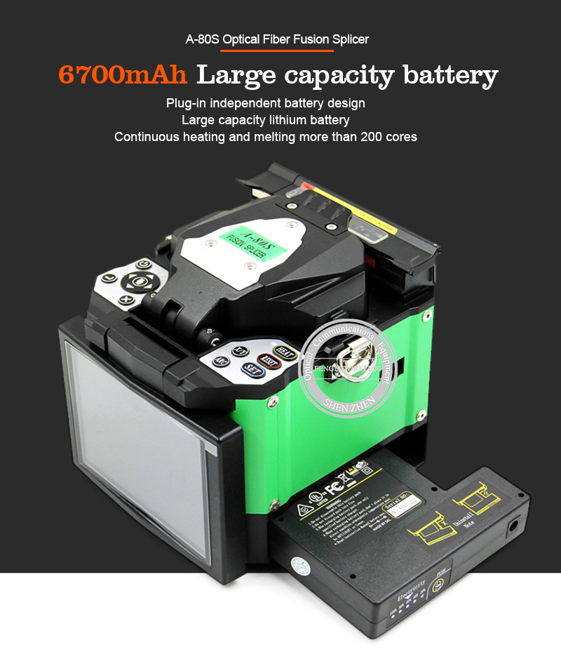 A-80S зеленый/оранжевый автоматическая машина для сращивания оптического волокна
