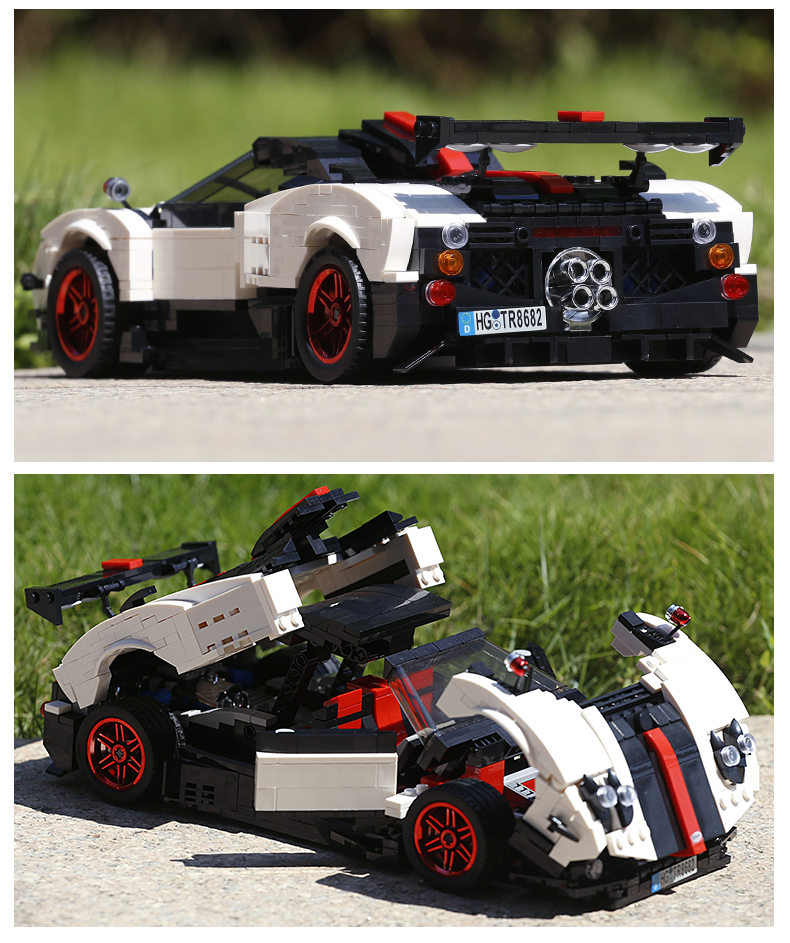 MOULD KING Technic Series Paganis Zonda Cinque Roadster Compatible 13105 Building Block  (960pcs) 4