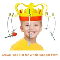 Novelty Toys For Children Rotating Crown Hat Chow Game Spinning Crown Snacks Food Party Play with Friends for funny Festival toy
