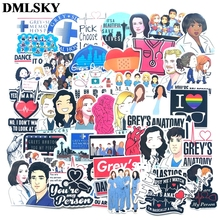 50 Pcs/set DMLSKY Greys anatomy album sticker Waterproof Scrapbooking for Car Luggage Laptop Phone Decal M3846