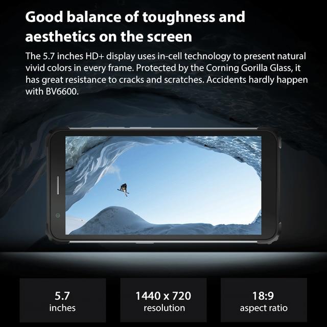 Blackview BV6600 8580mAh Battery Smartphone IP68 Waterproof 4GB+64GB Octa Core Mobile Phone 16MP Camera NFC Cellphones 3