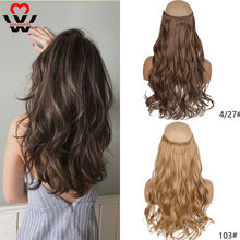 Hairpiece Curly-Hair Heat-Resistant Wavy Clip-In Synthetic MANWEI 24-Inch High-Temperature-Fiber