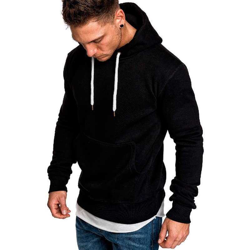 JODIMITTY 2020 New Autumn Winter Fashion Solid Hoodies Male Large Size Warm Fleece Coat Men Brand Casual Sweatshirt Hooded Fit