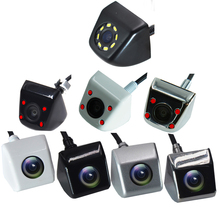 BYNCG Car Backup Camera Metal HD Reverse Camera Mini Front view / Rear View Cameras 8 LEDs Lights Night Vision Waterproof IP69
