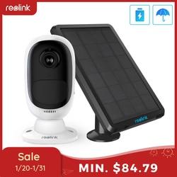 Reolink Argus 2 et panneau solaire batterie Rechargeable caméra sans fil WiFi 1080P Full HD caméra intérieure extérieure bidirectionnelle audio PIR