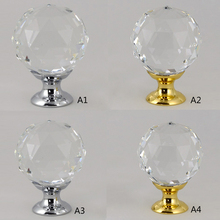20-40MM Crystal Handle Single Hole Diamond Cabinet Pulls Silver Gold Kitchen Handles Furniture Glass Door Drawer Knobs 2 5 3 75 gold crystal cabinet handles glass dresser knobs drawer pulls silver rhinestone knobs square furniture door pulls